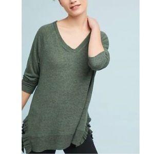 Anthro/Postmark Ruffled Sweater